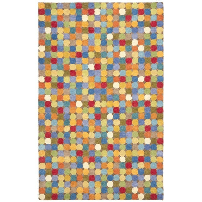 Safavieh Handmade New Zealand Wool Dots Brown Rug (5'x 8')