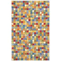 Safavieh Handmade New Zealand Wool Dots Brown Rug (3'6 x 5'6')