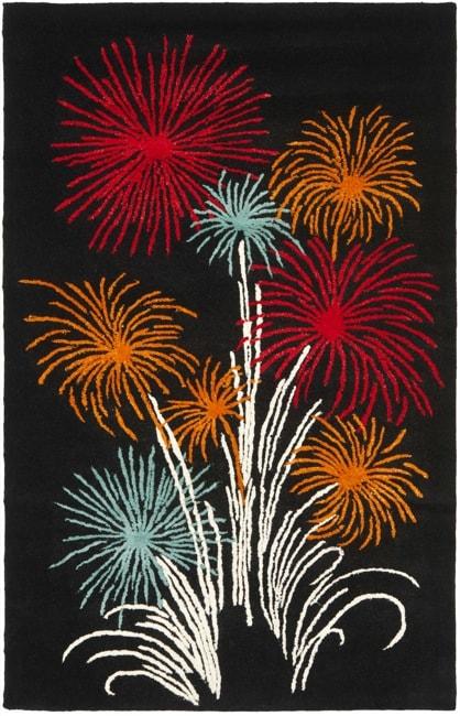 Safavieh Handmade New Zealand Wool Jubilee Black Rug (7'6 x 9'6)