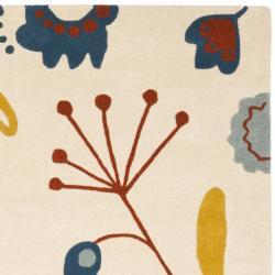 Safavieh Handmade New Zealand Wool Bliss Beige Rug (3'6 x 5'6')