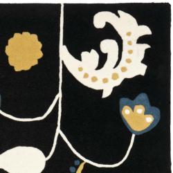 Safavieh Handmade New Zealand Wool Bliss Black Rug (5'x 8')