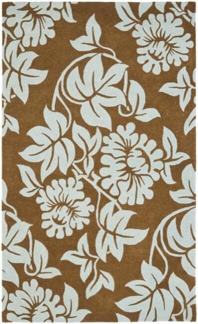 Safavieh Handmade New Zealand Wool Bliss Light Brown Rug (3'6 x 5'6')