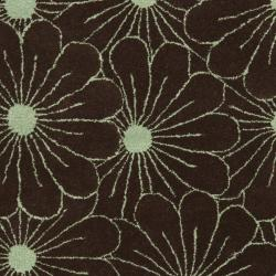 Safavieh Handmade New Zealand Wool Daisies Brown Rug (3'6 x 5'6')
