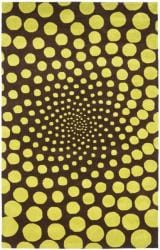 Handmade New Zealand Wool Eternity Brown Rug (3'6 x 5'6')