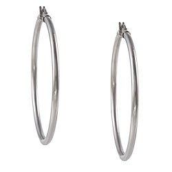 La Preciosa Stainless Steel 3-mm Hoop Earrings