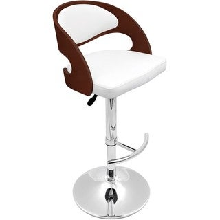 Cherry Bent Wood Modern Barstool