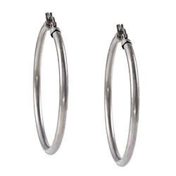 La Preciosa Stainless Steel 3mm Hoop Earrings