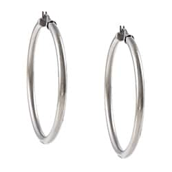 La Preciosa Stainless Steel 4mm Hoop Earrings
