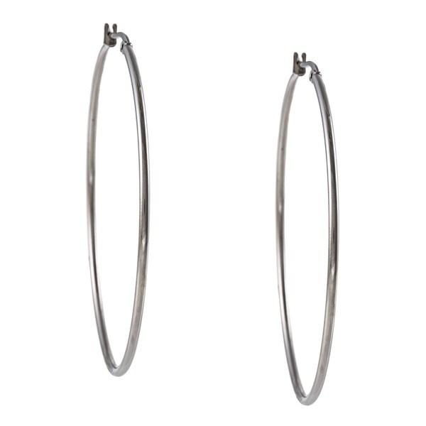 La Preciosa Stainless Steel 65-mm Hoop Earrings