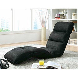 Black Microfiber EZ Lounger Click Clack Chair