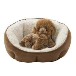 Soft Touch Tan Rhino Tufted Euro Cuddler Pet Bed