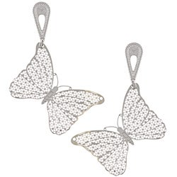 La Preciosa Stainless Steel Butterfly Earrings