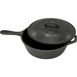 Bayou Classic Cast Iron 3-qt Covered Skillet
