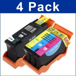 Dell 21/ 22/ 23 /23 V313/ V313W Black/ Color Ink Cartridges (Set of 4)