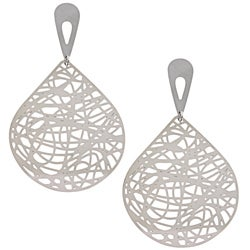 La Preciosa Stainless Steel Large Line Design Earrings