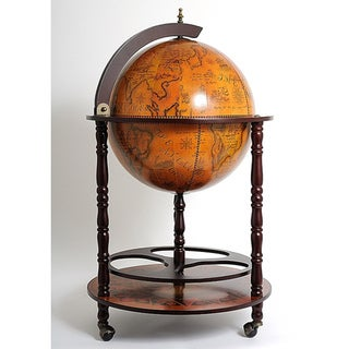 Old Modern Handicrafts Globe Drinks Cabinet Floor Stand