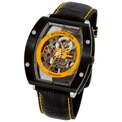 Stuhrling Original Men's Yellow/Black Neo Zeppelin Automatic Watch