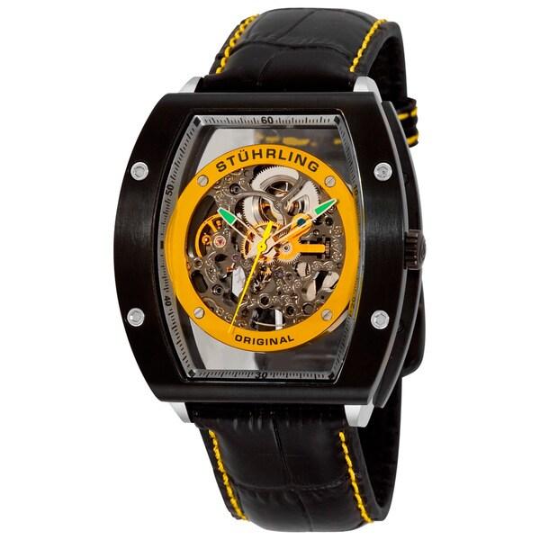Stuhrling Original Men's Yellow/Black Neo Zeppelin Automatic Watch
