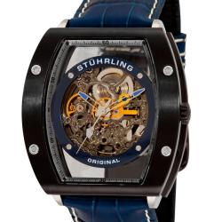 Stuhrling Original Men's Yellow/Blue Neo Zeppelin Automatic Watch