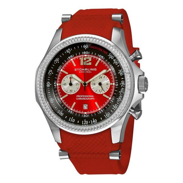 Stuhrling Original Men's Targa Sport Quartz Chronograph Red Watch