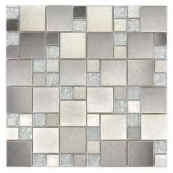 ICL Glass/ Metal Mix Tiles (Case of 11)