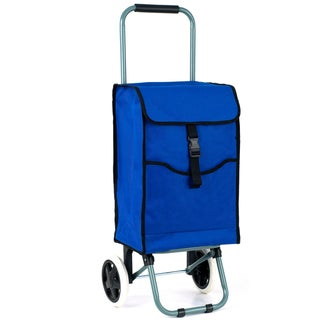 Eco-Friendly Portable Canvas 3-compartment Shopping Cart