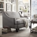 ETHAN HOME Winslow Taupe Concave Arm Modern Loveseat