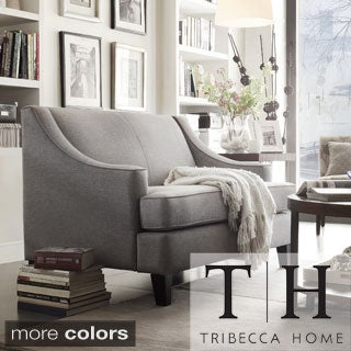 TRIBECCA HOME Winslow Concave Arm Modern Loveseat