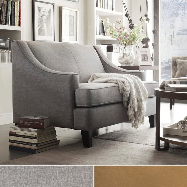 INSPIRE Q Winslow Concave Arm Modern Loveseat