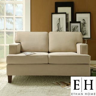 ETHAN HOME Stewart Beige Track Arm Modern Loveseat