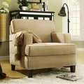 TRIBECCA HOME Stewart Beige Track Arm Modern Accent Chair