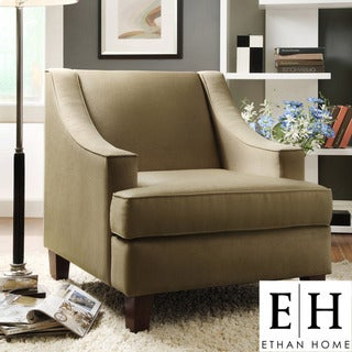 ETHAN HOME Winslow Taupe Concave Arm Modern Accent Chair