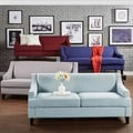 TRIBECCA HOME Winslow Taupe Concave Arm Modern Sofa