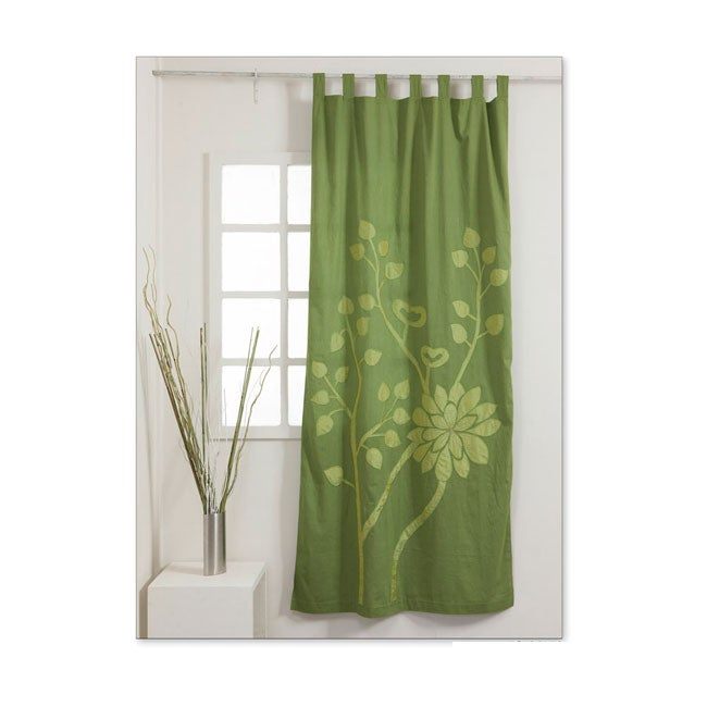 Emerald 92-inch Curtain Panel , Handmade in India