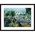 Claude Monet 'Irises, Claude Monet's Country Estate' Wood-framed Art Print