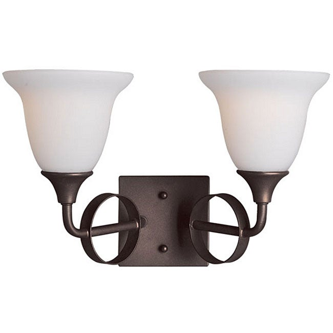 Woodbridge Lighting Fall River 2 Light Oil Rubbed Bronze Bath Sconce Overst