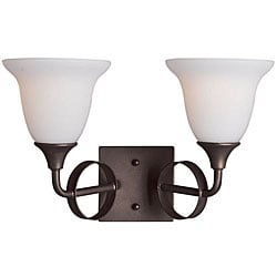 Woodbridge Lighting Fall River 2-light Oil Rubbed Bronze Bath Sconce