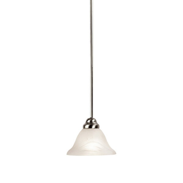 Woodbridge Lighting Anson 1-light Satin Nickel Mini Pendant Light
