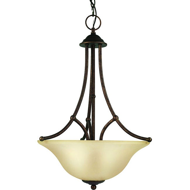 Woodbridge Lighting Anson 3-light Marbled Bronze Pendant Light