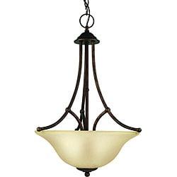 Woodbridge Lighting Anson 3-light Marbled Bronze Pendant Light