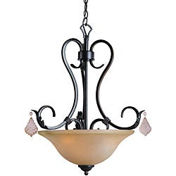 Woodbridge Lighting Firenza 3-light Colonial Bronze Pendant Light