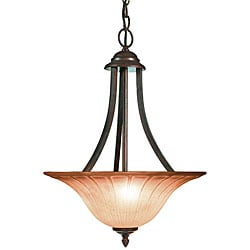 Woodbridge Lighting Broadmore 3-light Bordeaux Pendant Light