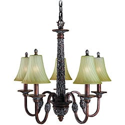 Woodbridge Lighting Vergennes 5-light Bark Chandelier