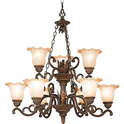 Woodbridge Lighting Elegante 9-light Gothic Bronze Chandelier