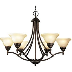 Woodbridge Lighting Anson 6-light Marbled Bronze Chandelier
