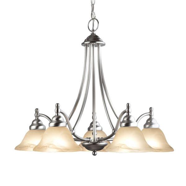 Woodbridge Lighting Anson 5-light Satin Nickel Chandelier