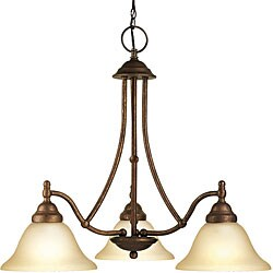 Woodbridge Lighting Anson 3-light Marbled Bronze Chandelier
