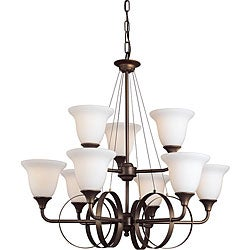 Woodbridge Lighting Fall River 9-light Oil Rubbed Bronze Chandelier