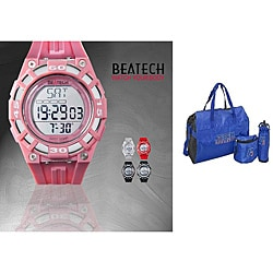 Beatech Pink Heart Rate Monitor Watch with Russell Athletic 3-piece Work-out Set