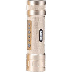 XCEON Acouztic Champagne Music/ Light Bicycle Flashlight